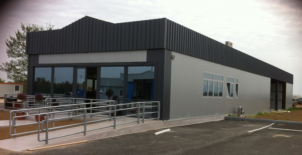 Construction of a new building for shellfish industry